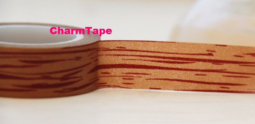 Wood Washi Masking Tape Roll 15mm x 10m WT72 - CharmTape - 1