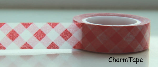 Washi Tape Pink Plaid WT88 - CharmTape - 3