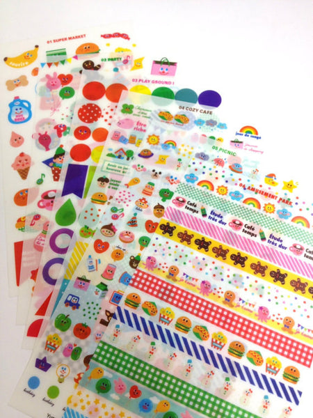 Yummy Friends Planner Stickers - 12 sheets set - CharmTape - 2