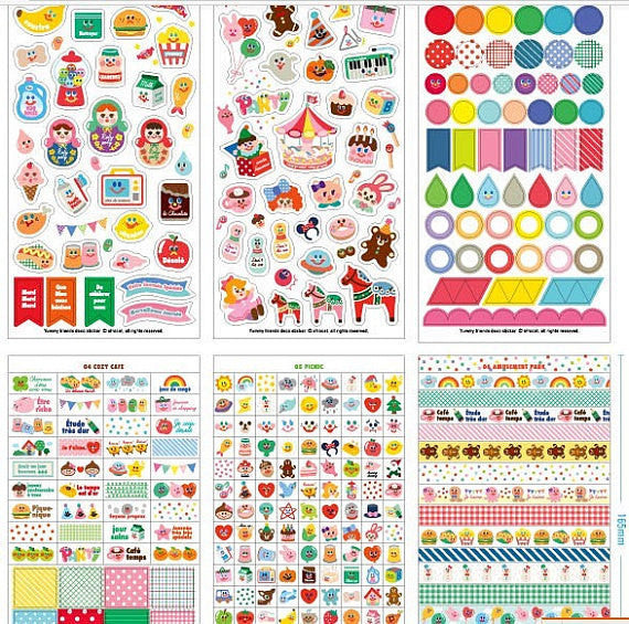Yummy Friends Planner Stickers - 12 sheets set - CharmTape - 3