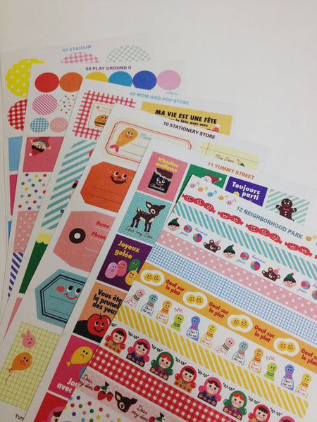 Yummy Friends Planner Stickers - 12 sheets set - CharmTape - 4