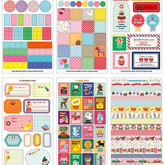 Yummy Friends Planner Stickers - 12 sheets set - CharmTape - 5