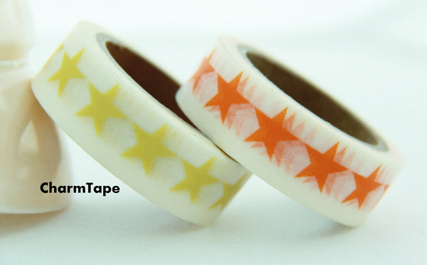 Stars Washi Tape 15mm x 10m WT117 - CharmTape - 6
