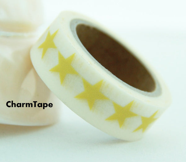Stars Washi Tape 15mm x 10m WT117 - CharmTape - 4