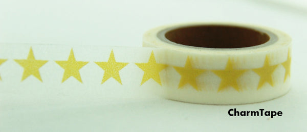 Stars Washi Tape 15mm x 10m WT117 - CharmTape - 5