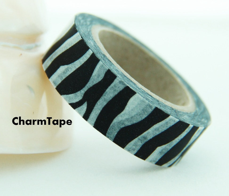 Zebra Print Washi Tape Roll 11yards WT126 - CharmTape - 1
