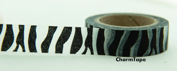 Zebra Print Washi Tape Roll 11yards WT126 - CharmTape - 2