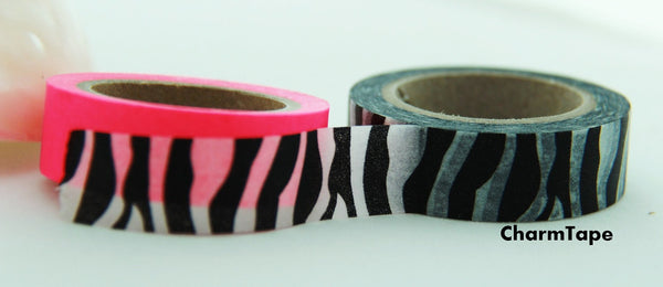 Zebra Print Washi Tape Roll 11yards WT126 - CharmTape - 3