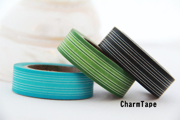 Stripes Washi Masking Tape 15mm x 10m WT164 - CharmTape - 1