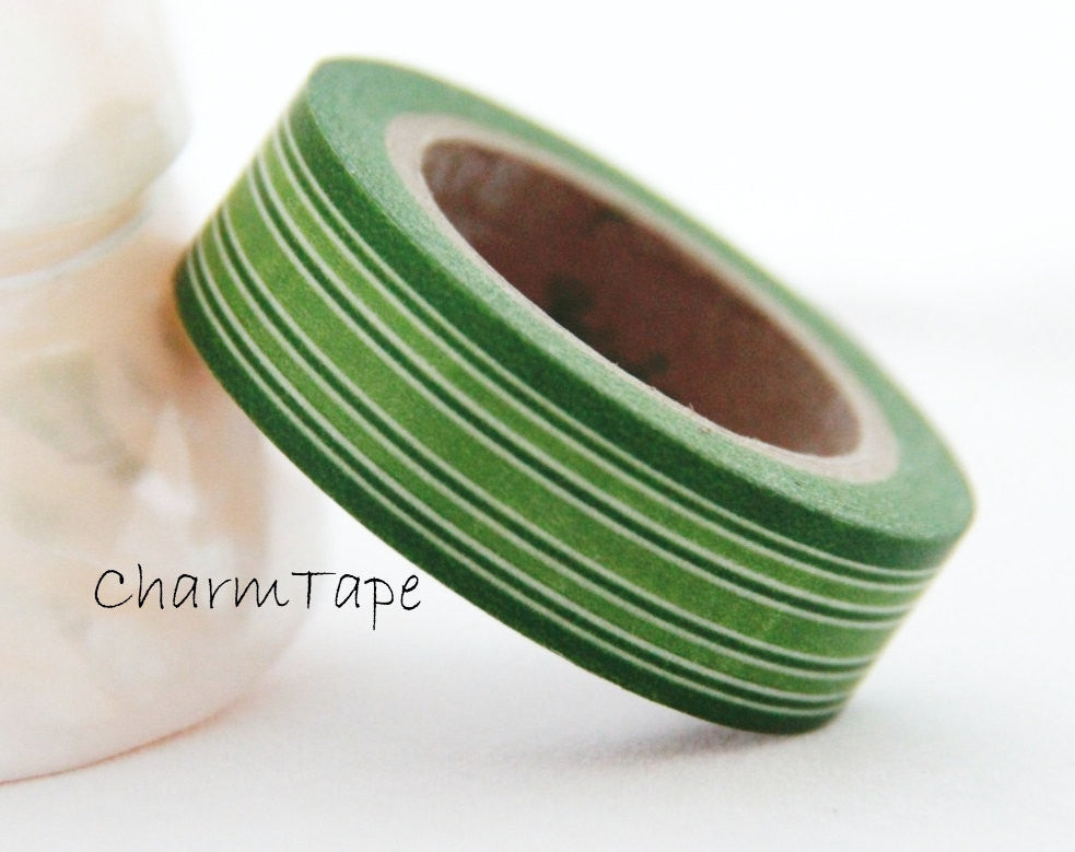 Stripes Washi Masking Tape 15mm x 10m WT164 - CharmTape - 2