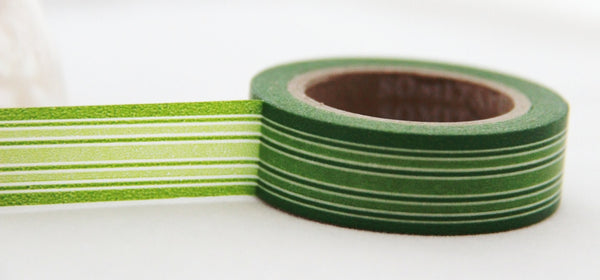 Stripes Washi Masking Tape 15mm x 10m WT164 - CharmTape - 3