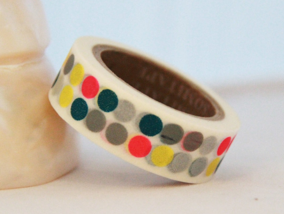 Washi Tape -Big Dots - 15mm x 11yards WT183 - CharmTape - 1
