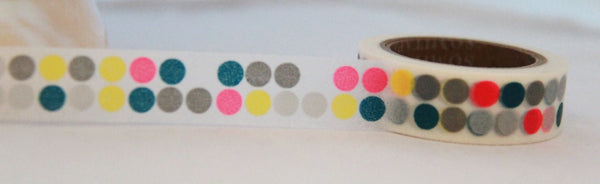 Washi Tape -Big Dots - 15mm x 11yards WT183 - CharmTape - 2