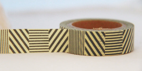 Grey Stripes Washi Tape 15mm 11yards WT184 - CharmTape - 2