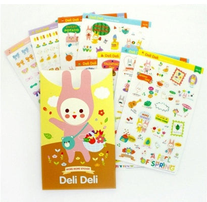 Korean Deli Deli adhesive Stickers 8 sheets SS500 - CharmTape - 1