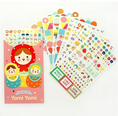 Yomi Yomi Matrioska / Babushka Stickers 8 sheets - CharmTape - 1