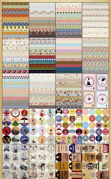 Retro Deco Paper Sticker 45 Sheets ss522 - CharmTape - 2