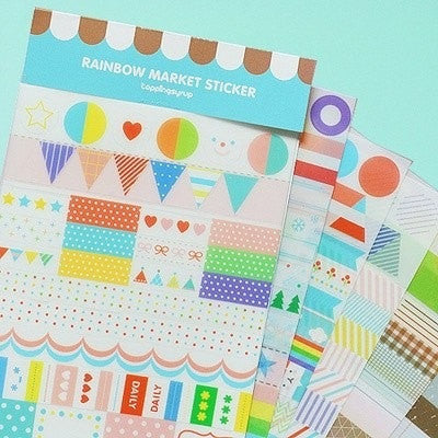 Shabby Chic dairy translucent Sticker 6 Sheets SS516 - CharmTape - 1