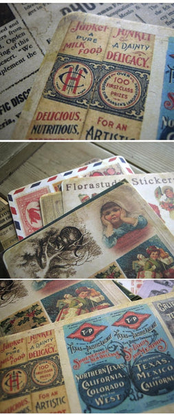 Retro postal Paper Sticker 10 Sheets ss521 - CharmTape - 3