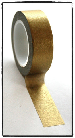 Festive Metallic solid Gold Washi Tape - CharmTape - 1