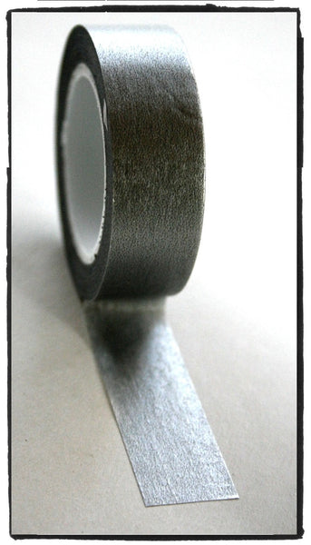 Festive Metallic solid Silver Washi Tape - CharmTape - 1