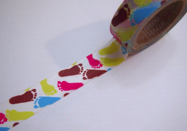 Footprint Washi Tape 15mm WT252 - CharmTape - 1