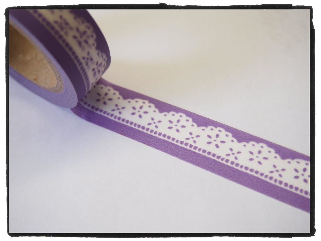 Lace design on lilac Washi Tape 11yards WT265 - CharmTape - 1