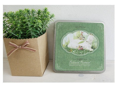 Korea DIY decoden Cards Set in tin box - Alice in Wonderland - CharmTape - 1