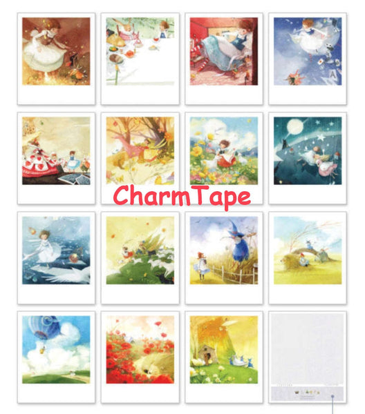 Korea DIY decoden Cards Set in tin box - Alice in Wonderland - CharmTape - 2