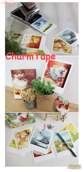 Korea DIY decoden Cards Set in tin box - Alice in Wonderland - CharmTape - 3