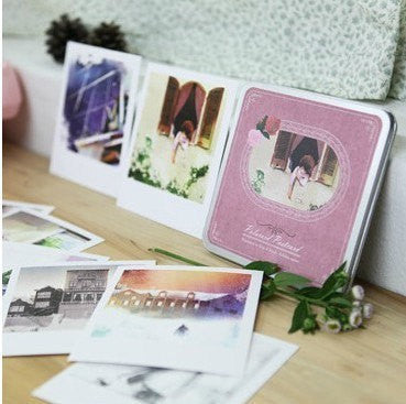Korea Cards Set in tin box - painting illustrated polaroid - CharmTape - 1