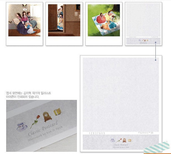 Korea DIY decoden Cards Set in tin box - Uncle Long Leg polaroid - CharmTape - 3