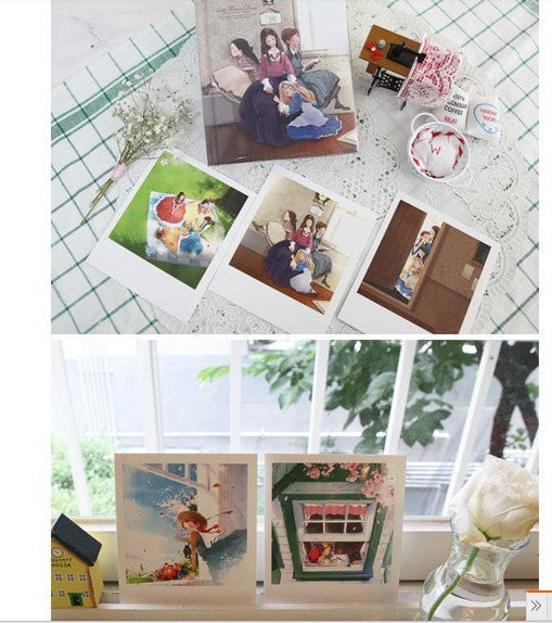 Korea DIY decoden Cards Set in tin box - Uncle Long Leg polaroid - CharmTape - 5