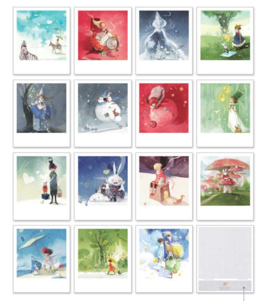 Korea DIY decoden Cards Set in tin box - Fairy tale Prince - CharmTape - 2
