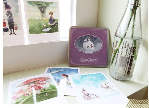 Korea DIY decoden Cards Set in tin box - Fairy tale Prince - CharmTape - 5