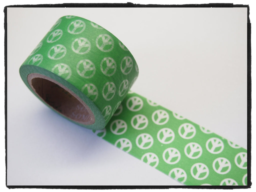 Peace Sign Big Washi Tape 30mm x 10m WT389 - CharmTape - 3
