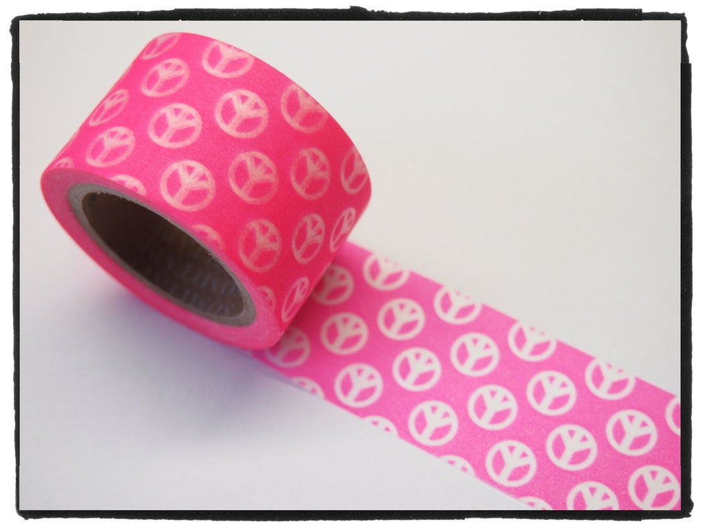 Peace Sign Big Washi Tape 30mm x 10m WT389 - CharmTape - 2