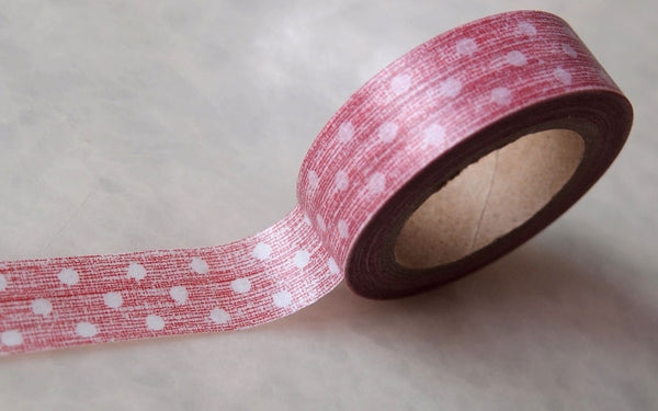 Washi Tape Roll - drawn polka dots 15mm x 10m WT398 - CharmTape - 2