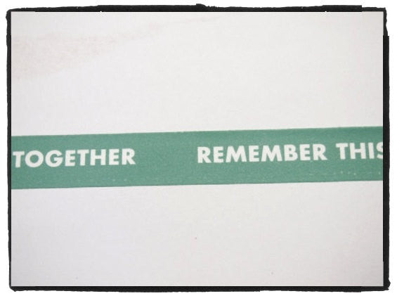 Today: Together Remember This Washi Tape 18mm Wide x 11 yards WT393 - CharmTape - 2