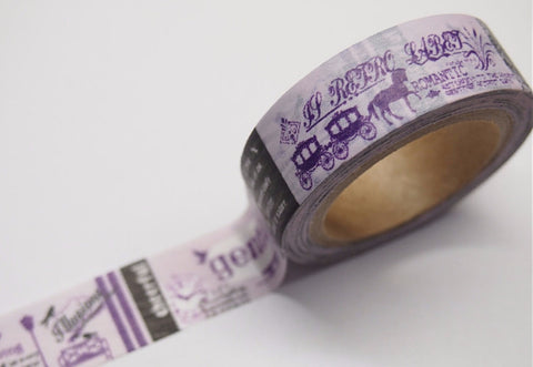 Lavender Fairy tales Washi tape 15mm x 11 yards WT401 FREE SHIPPING - CharmTape - 1
