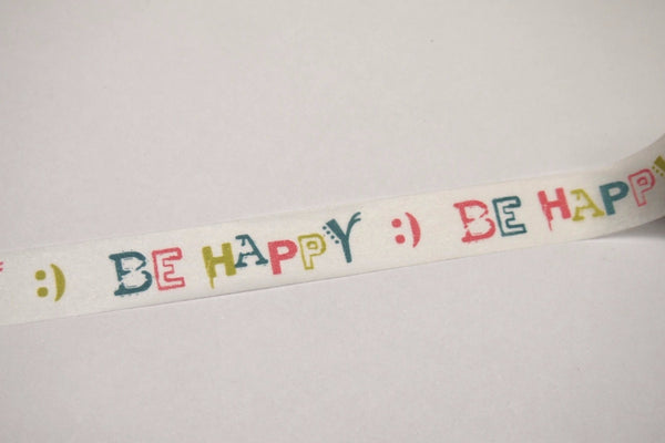 Be Happy Washi tape 15mm x 10m WT407 - CharmTape - 2