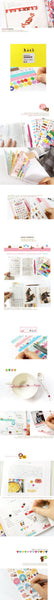 Jetoy Zoo Paper and Translucent Stickers set 8 Sheets with folder - CharmTape - 3