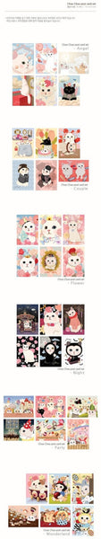 Jetoy Choo Choo cat Postcard set - Night 6 sheets - CharmTape - 4