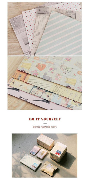 Vintage Deco Paper & Sticker Pack (14 sheets) - CharmTape - 2