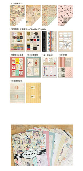 Vintage Deco Paper & Sticker Pack (14 sheets) - CharmTape - 3