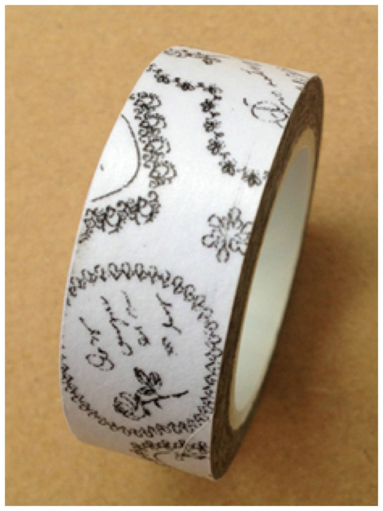 Black & White Washi Tape 15mm x 10m WT402 - CharmTape