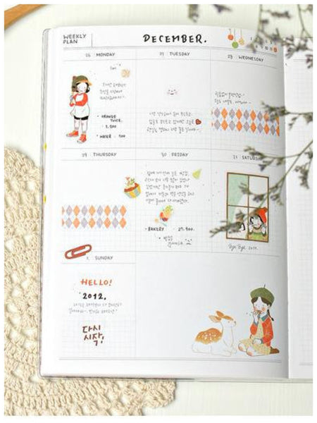 Heeda plastic Stickers set - 6 sheets SS515 - CharmTape - 2