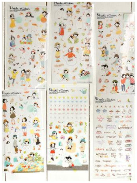 Heeda plastic Stickers set - 6 sheets SS515 - CharmTape - 4