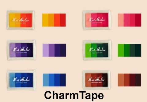 Multi-color Stamp Ink Pad Oil Based waterproof for wood, fabric and paper - CharmTape - 1