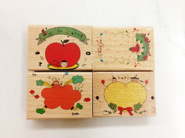 Wooden Rubber Stamp - I am so sorry - CharmTape - 4